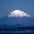 富士山:江の島にて